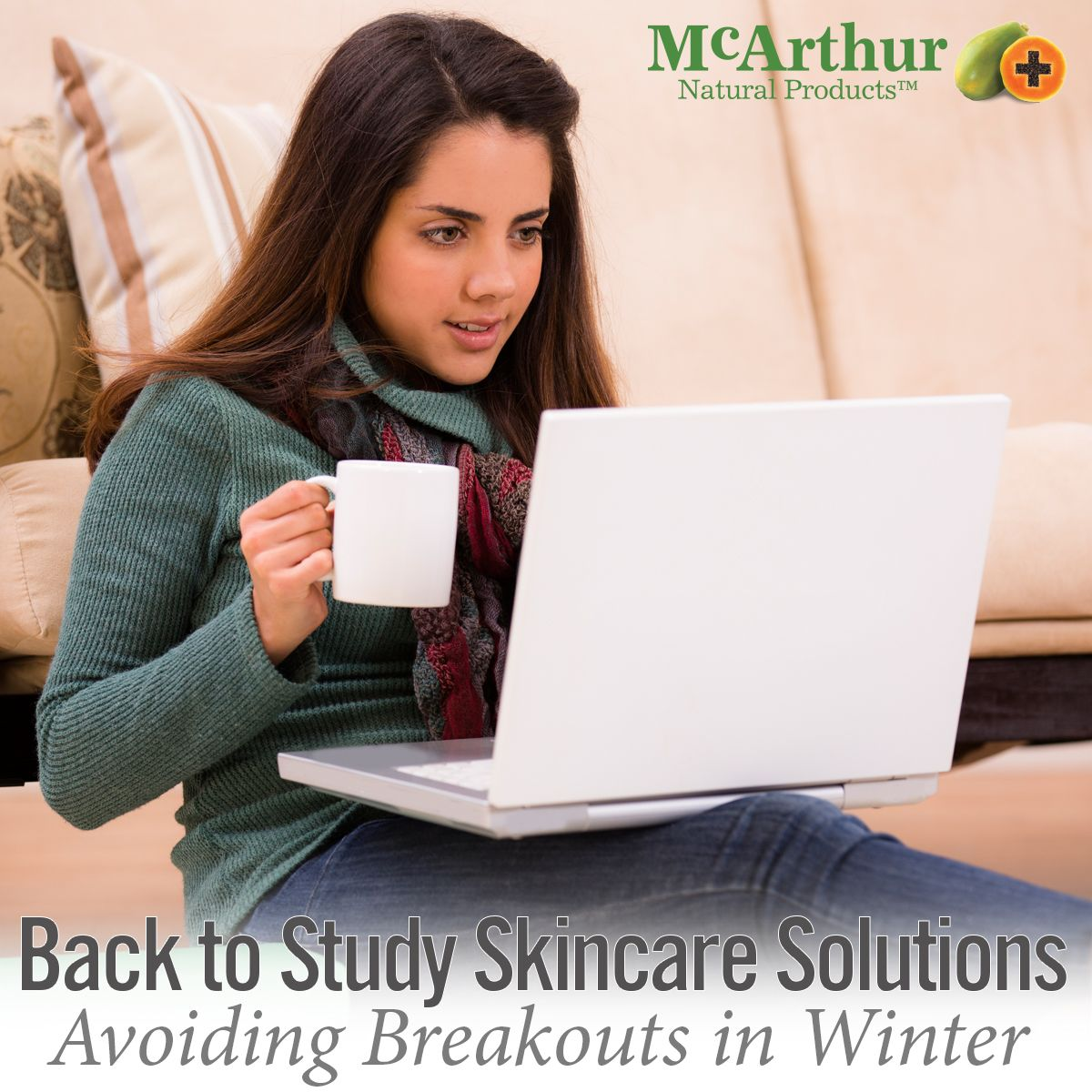 Back to Study Skincare Solutions  Avoiding breakouts in winter with McArthur Natural Skincare skincare range.  It's time to get back into the swing of study, but feeling self-conscious about acne-prone skin can take all the fun out of reuniting with or making new friends. As a teenager or young adolescent battling with your skin, particularly in winter, we have some suggestions to assist you in today's eNewsletter.  View it online here: http://mcarthurskincare.com/news/july-21-2016/
