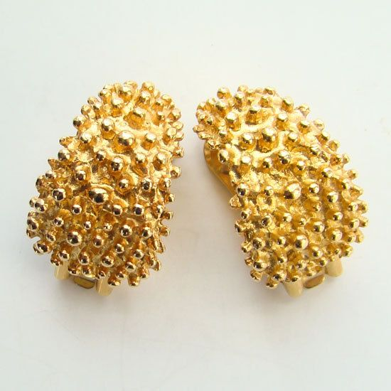 0aa160726 1973 Sarah Coventry Golden Sunset Clip Earrings by redroselady, $18.00