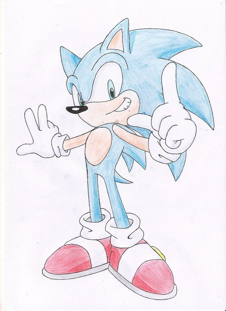 Sonic Drawing Sonic The Hedgehog Drawing Day By Nothing111111