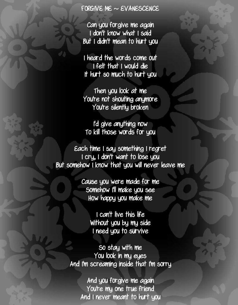Forgive Me ~ Evanescence