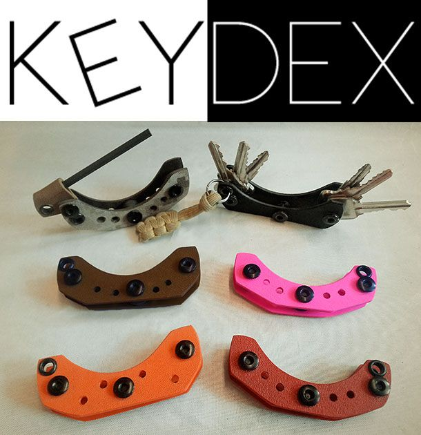 Keydex from L.T. Wright Handcrafted Knives. This Kydex creation will hold your keys or fire steel safely and securely. Available in 6 colors. Great for your EDC.