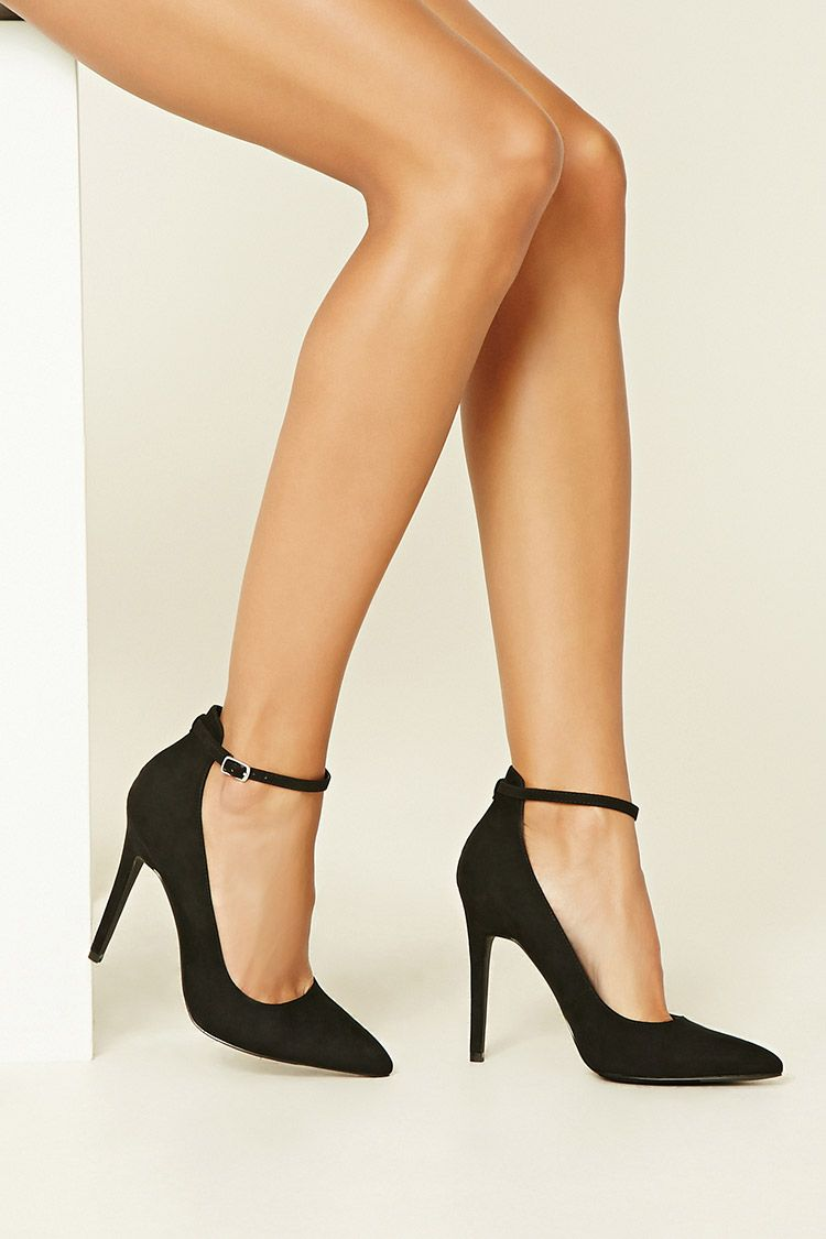 3538b2e59b7c Faux Suede Ankle-Strap Pumps - Womens shoes and boots