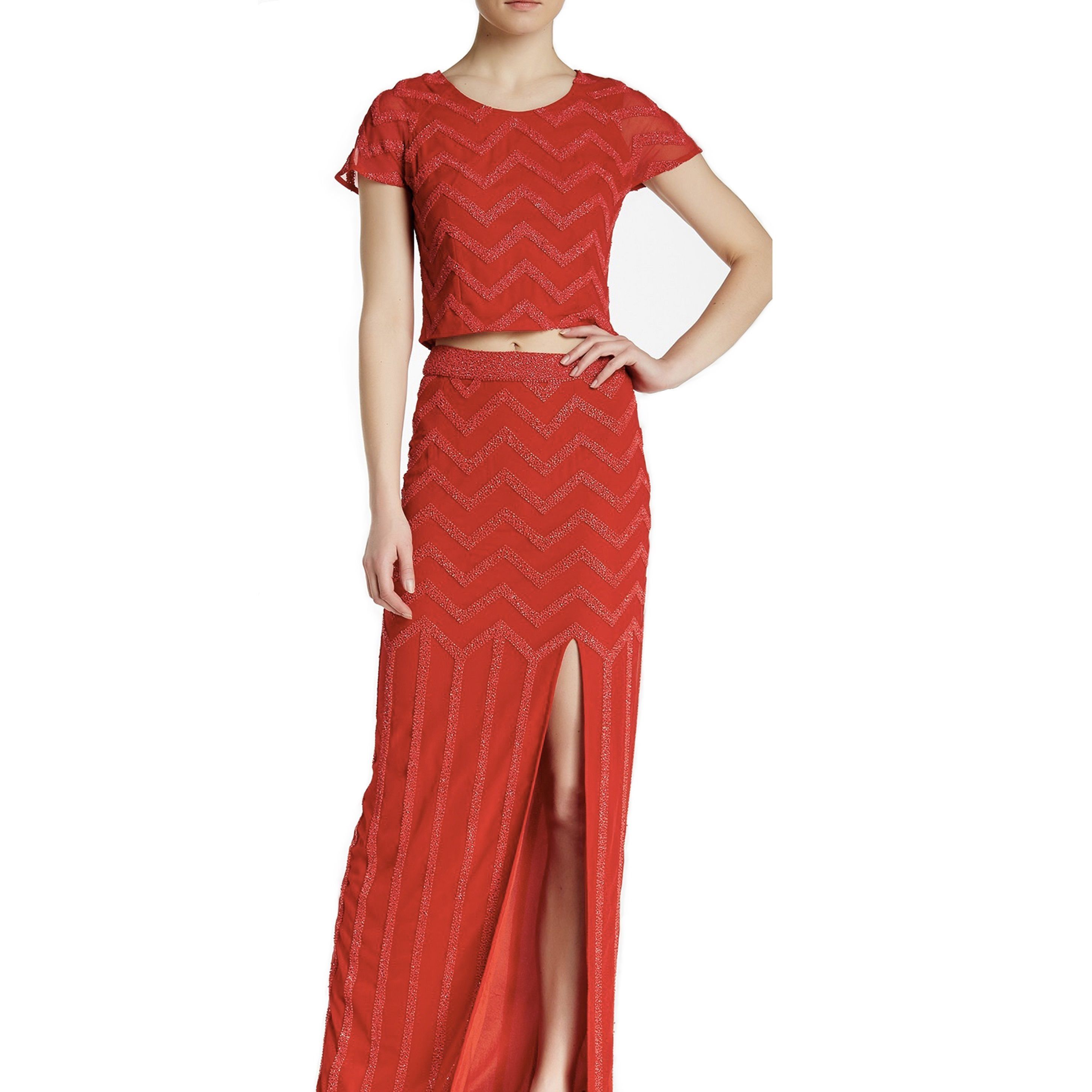 Lotus Threads Women's Zigzag 2-piece Long Skirt and Top