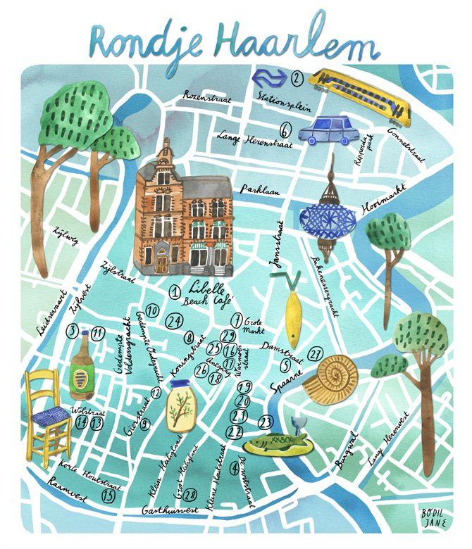 Illustrated maps - Bodil Jane