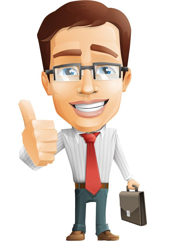 Businessman Vector Character With Images Vector Character