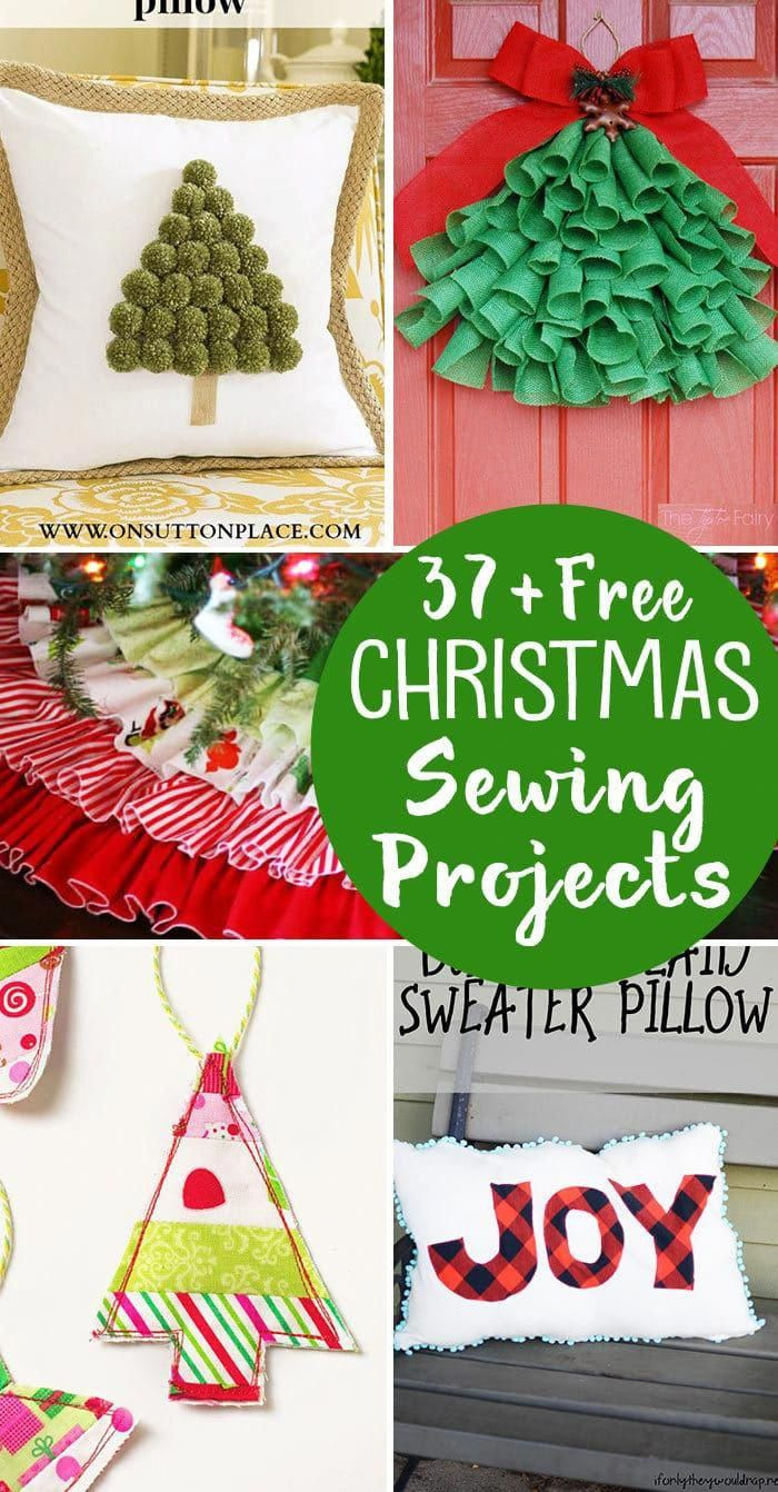 15++ Christmas sewing crafts to make ideas