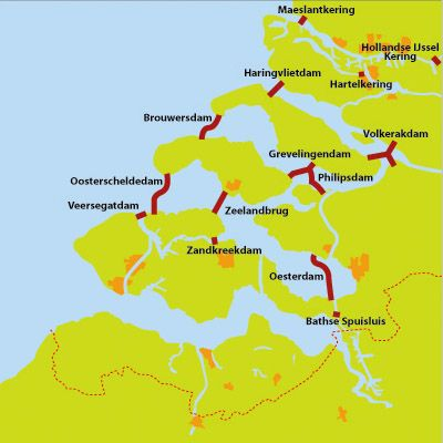 The Zeeland Dams Niederlande Holland Geografie Und Niederlande