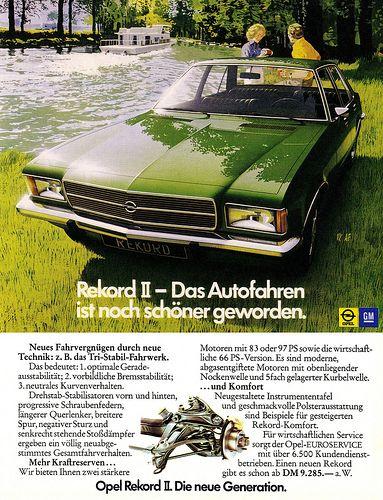 Opel Rekord D (1972) II Autofahren ist noch schöner geworden.