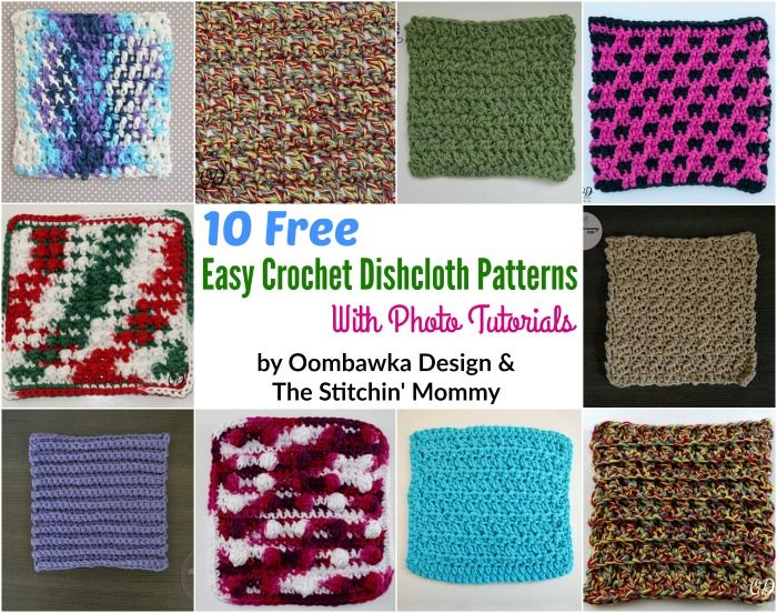 10 Free and Easy Crochet Dishcloth Patterns with Photo Tutorials ...