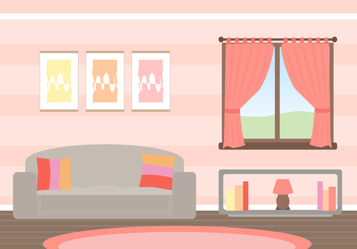 Living Room Vector illustration | simple art | Pinterest | Living ...