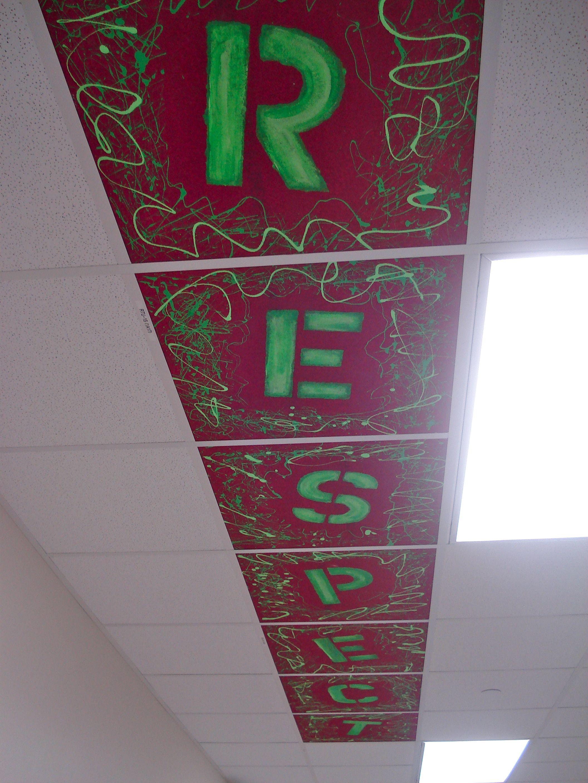 ceiling tile art love it wonder if