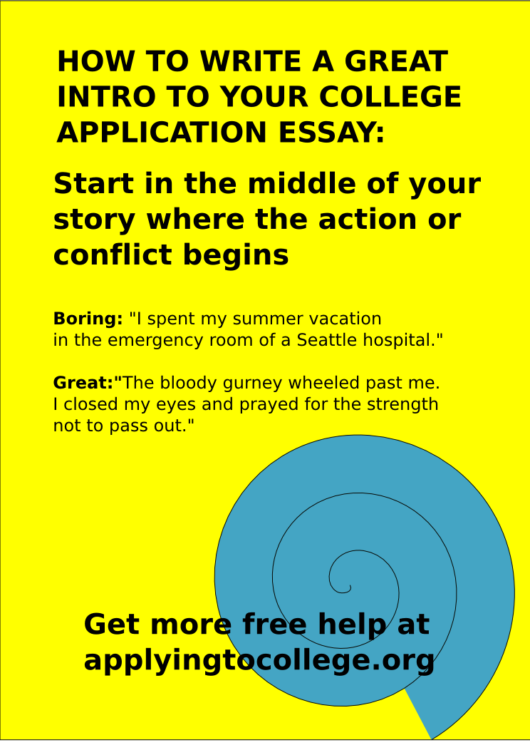 You can write a great college application essay you just have to