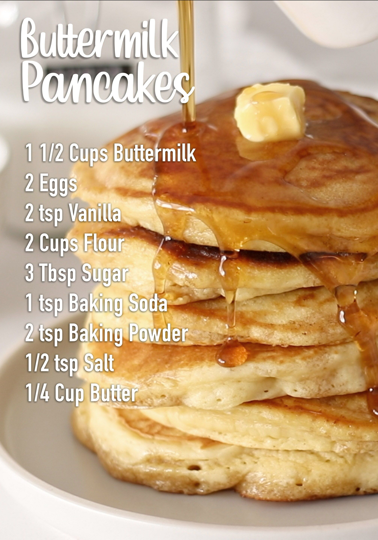 Buttermilk Pancakes Recipe Recipe In 2020 Buttermilk Pancakes Pancake Recipe Buttermilk Weekend Brunch Recipes