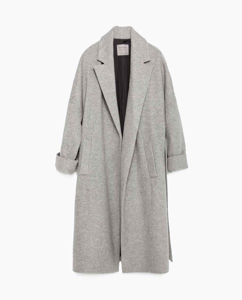 Long Et Zara Manteau Coats Manteau En Laine OqAP6