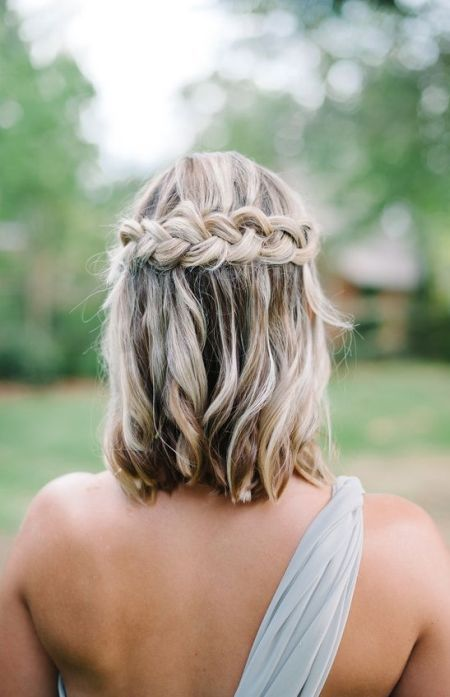 57 Unique Wedding Hairstyles For Different Necklines 2016 Https Www Facebook Com Shorthaircutstyle Short Hair Styles Short Wedding Hair Braids For Short Hair