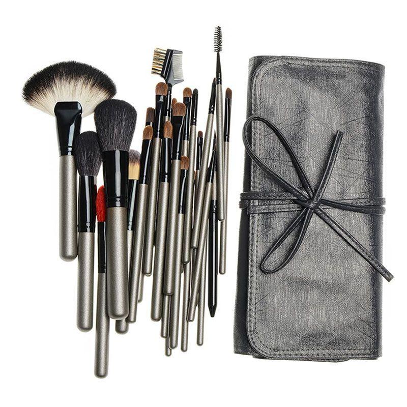 Professional 26pcs Animal Hair Makeup Brushes Set Cosmetic