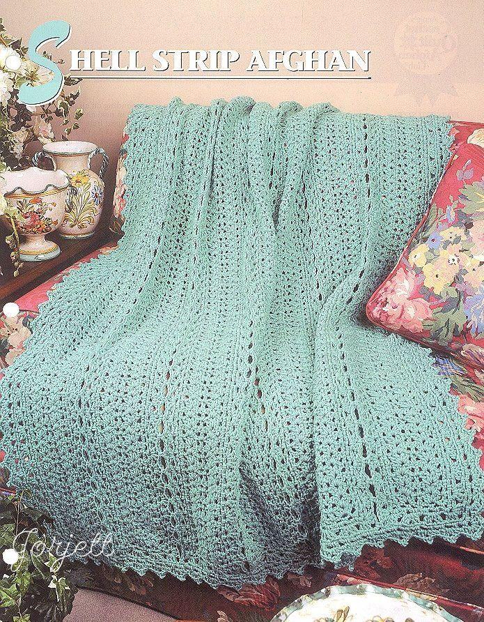 Httpebayitmshell Strip Afghan Annies Crochet Pattern
