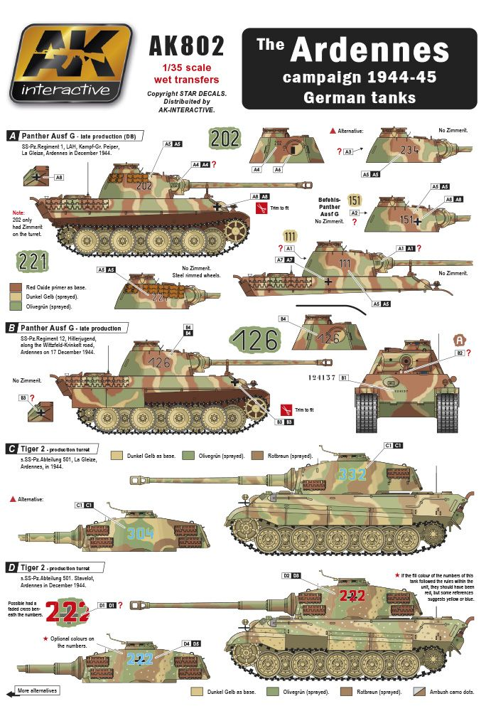 The ARDENNES campaign 1944-45 German tanks wet transfer