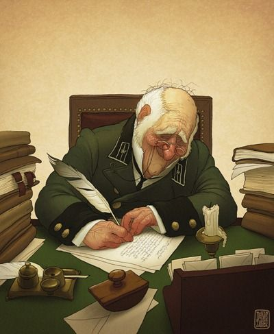 Denis Zilber Art Blog: Writing a letter