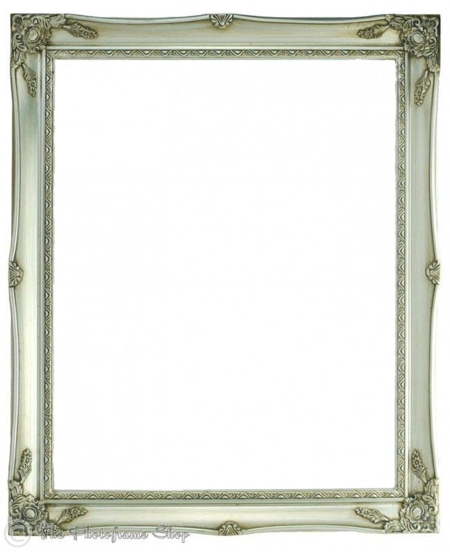 Antique Silver Shabby Chic Ornate Swept Vintage Picture Frames From