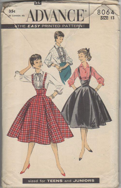 1956 Flared Suspender Skirt