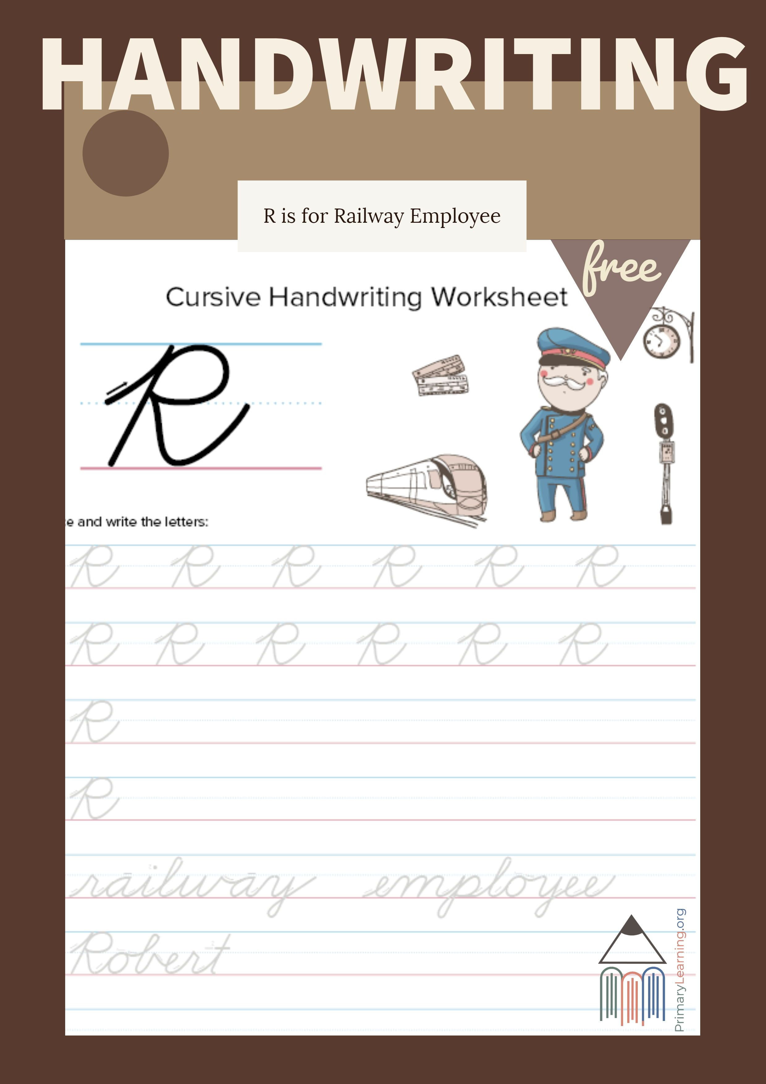 Cursive Uppercase R Worksheet