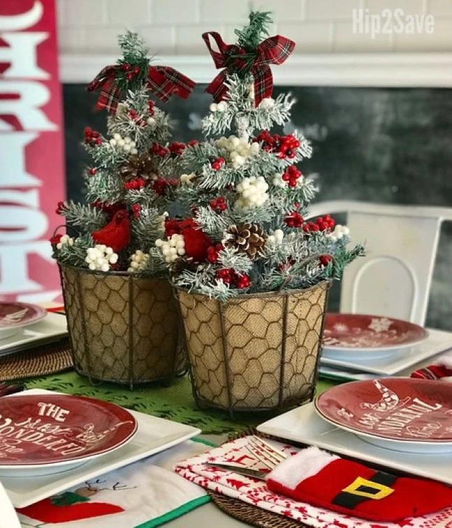 Turn This Dollar Tree Bargain Into Stylish Christmas Decor Hip2save Dollar Tree Christmas Decor Tabletop Christmas Tree Christmas Centerpieces