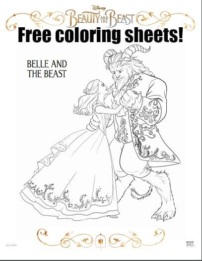 Beauty And The Beast Free Coloring Sheets Beauty And The Beast Movie Disney Beauty And The Beast Beauty And The Beast Party