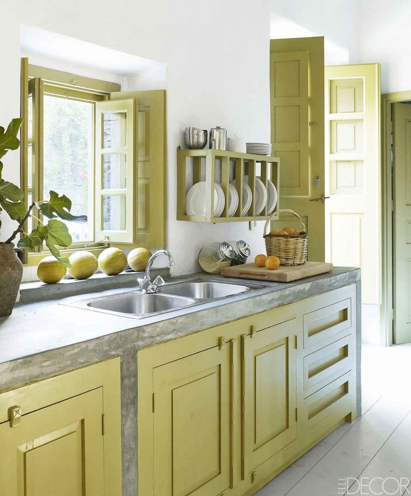 Kreative Wandgestaltung Mit Farbe: Leicht Gelb Küche Ideen (mit Bildern)