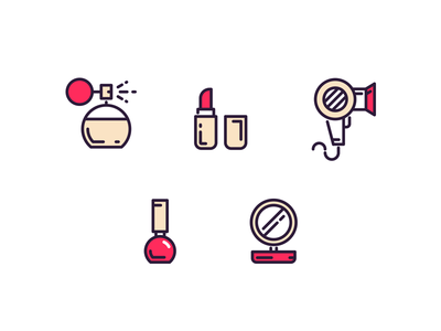 Makeup Icons Makeup Icons Graphic Design Marketing Makeup Logo