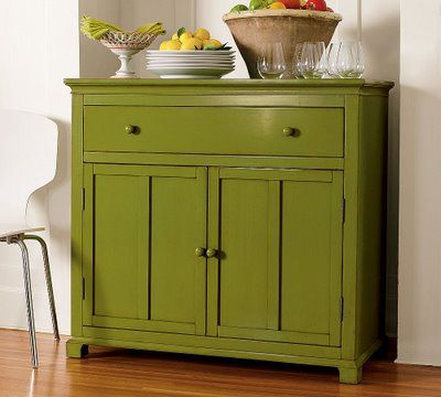 Never get tired of simple wood furniture painted an unexpected color