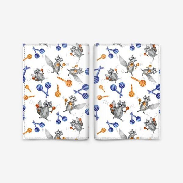 Обложка для паспорта Веселые еноты, Автор: Павлина Молоток, Цена: 900 р.
