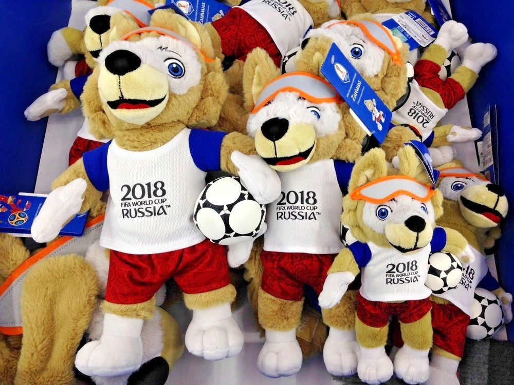 2018 Fifa World Cup Russia Zabivaka Official Mascot Souvenir Wolf Plush Toy 28cm Ebay Wolf Plush Fifa World Cup Mascot