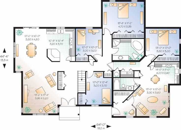 Beautiful Multigenerational Home Plans #7 Multi Generational House Floor  Plans ~ Great Pin! For