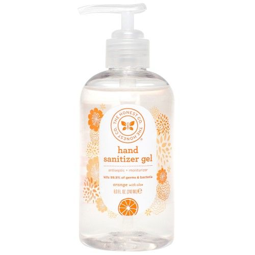 Honest Company Instant Hand Sanitizer Gel Orange 8 Fl Oz Hand