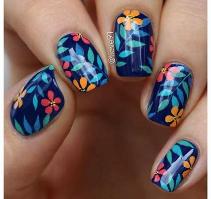 lieve91  bing images  tropical nails halloween nails