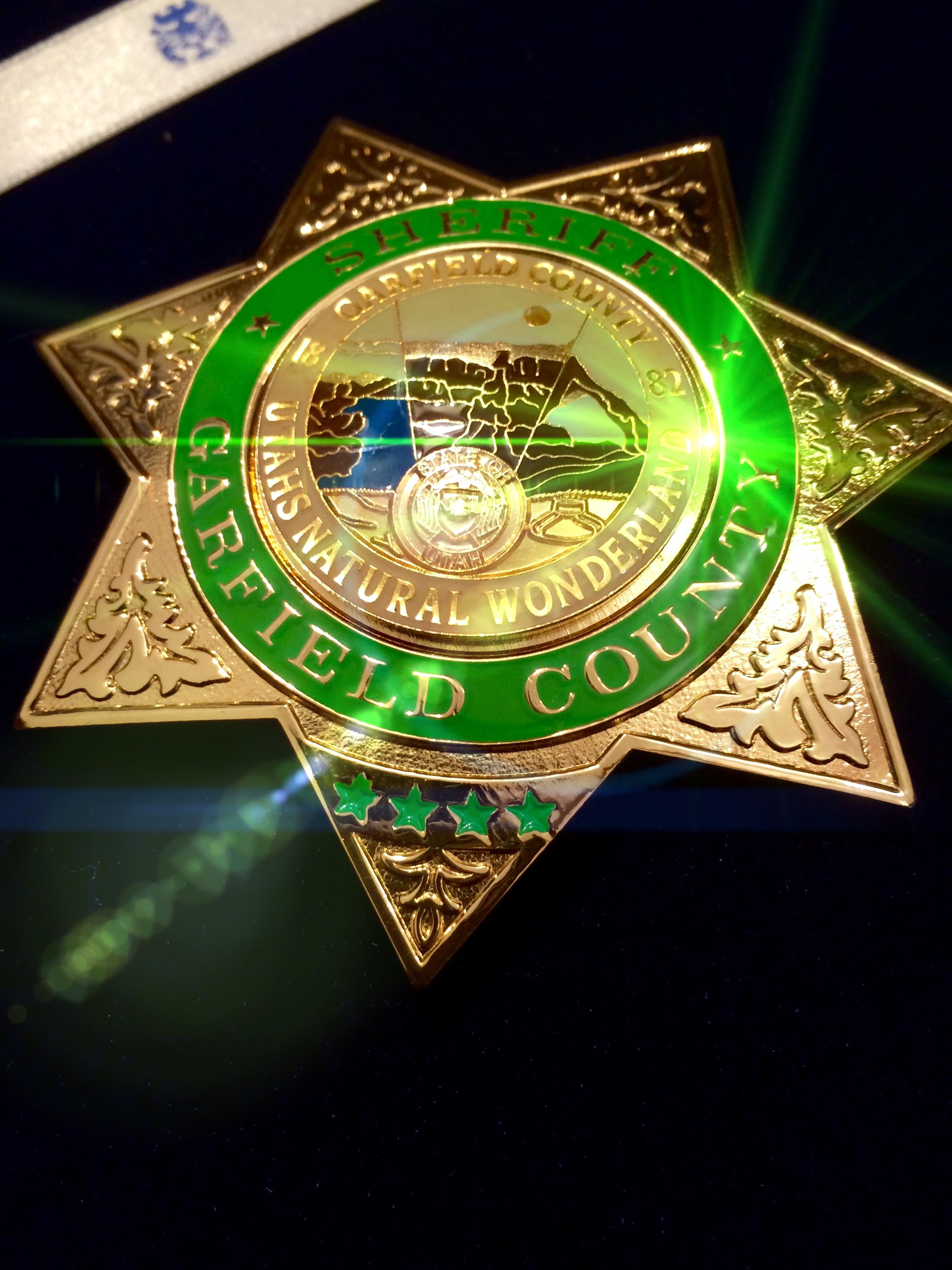 Us Sheriff Of Garfield County Utah Garfield County Firefighter Badge