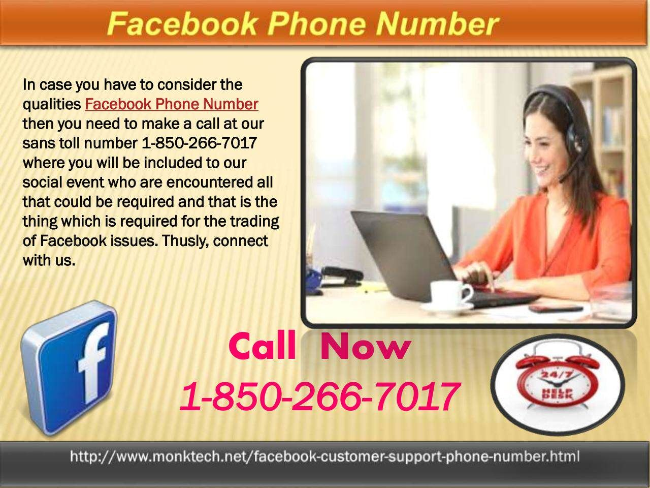 Why does Facebook Phone number 1-850-266-7017 call the most ideal way?