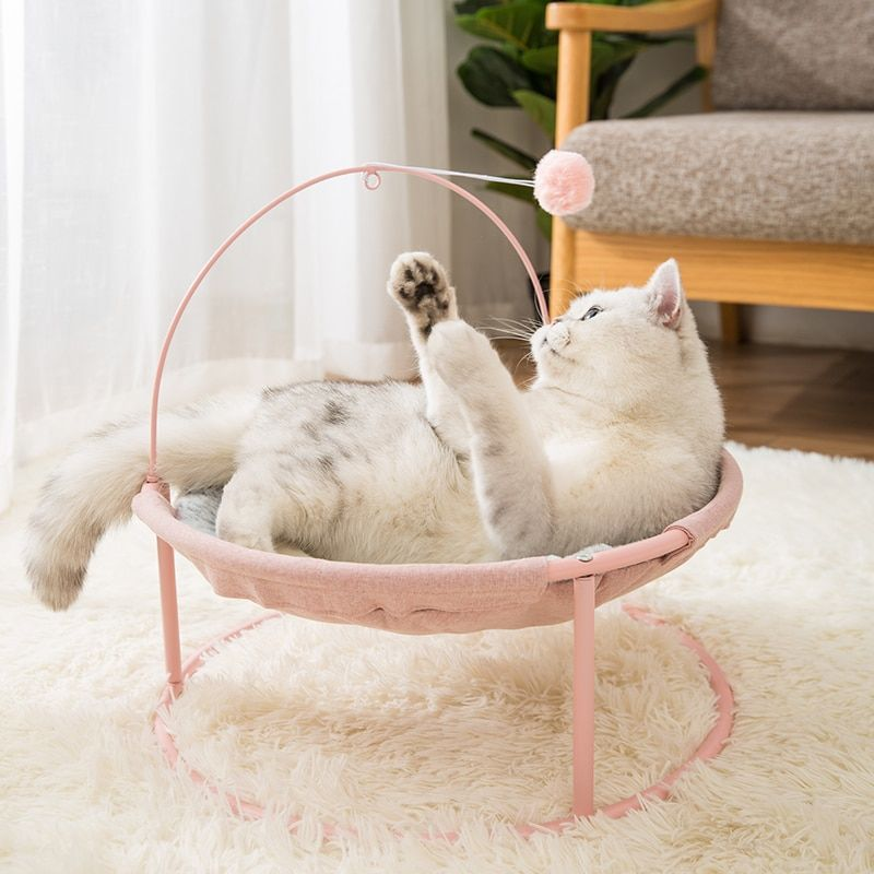 Hipidog Pet Cat Bed Comfortable Fleece Warm Plush Cat Bed Round Cat Sofa Free Shipping Attention Valid Dis Dog Beds For Small Dogs Cat Bed Pet Hammock