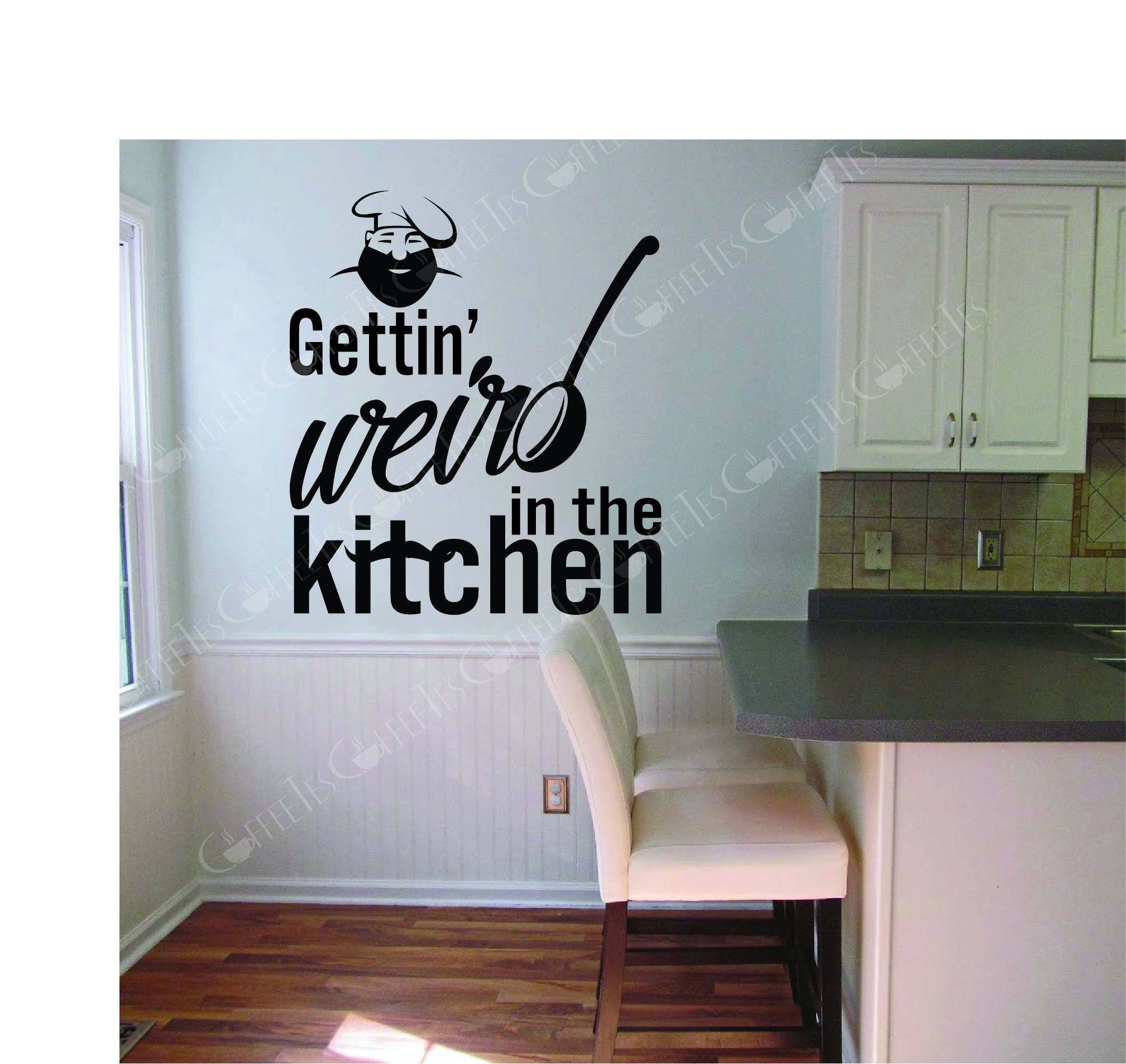Gettin weird in the kitchen wall decal vinyl heat transfer all vector svg dxf pdf vinyl decal by coffeetes on etsy