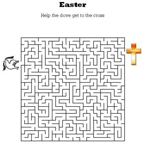 Kids Bible Worksheets-Free, Printable Easter Maze. For