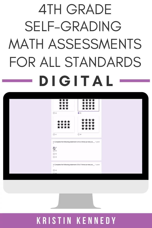 4th Grade Digital Math Assessments Video Math Assessment Common Core Math Standards Google Classroom Activities [ 1500 x 1000 Pixel ]