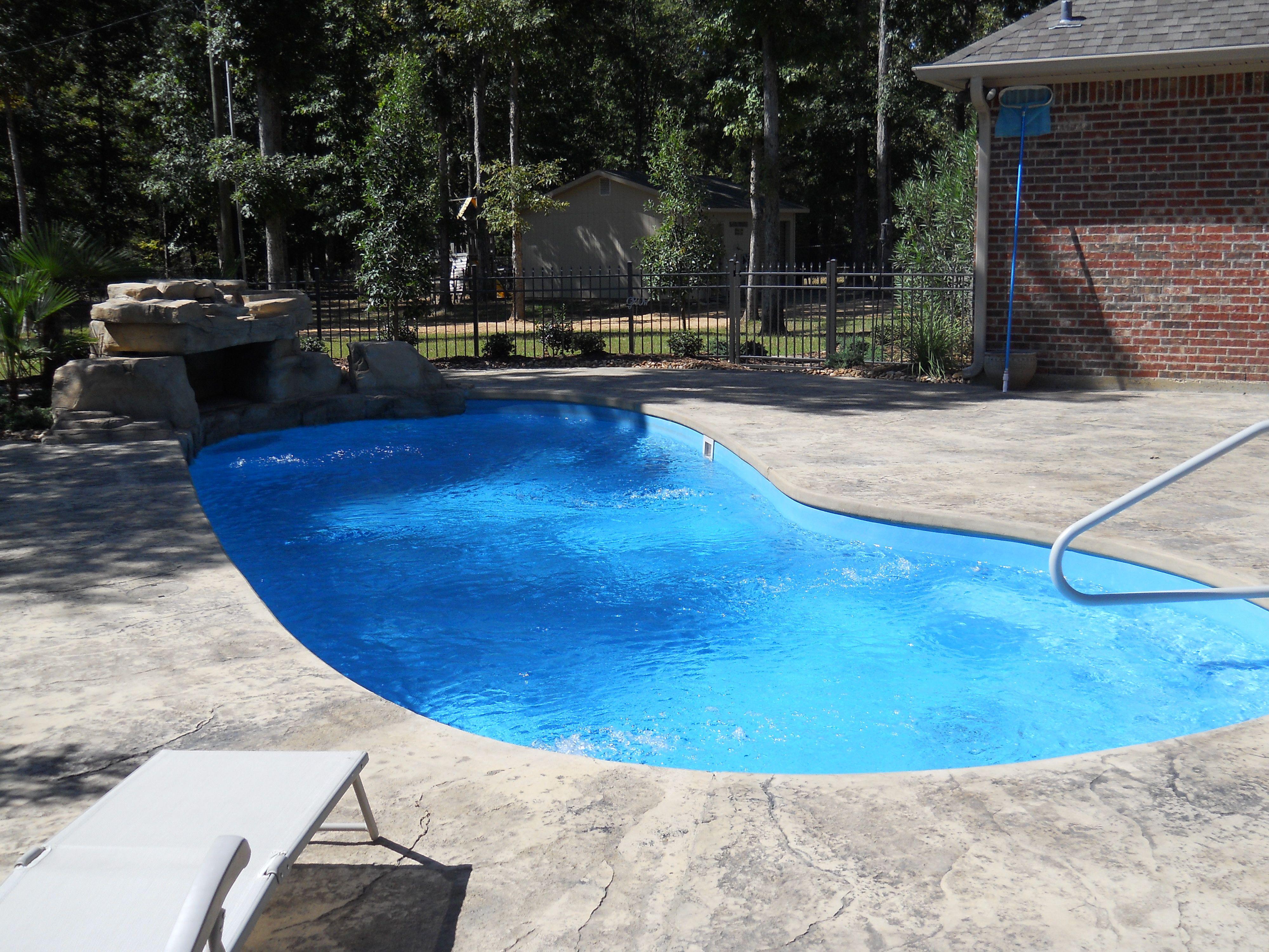 Royal Fiberglass Pool Ruston Louisiana Saltwater Rico Rock By