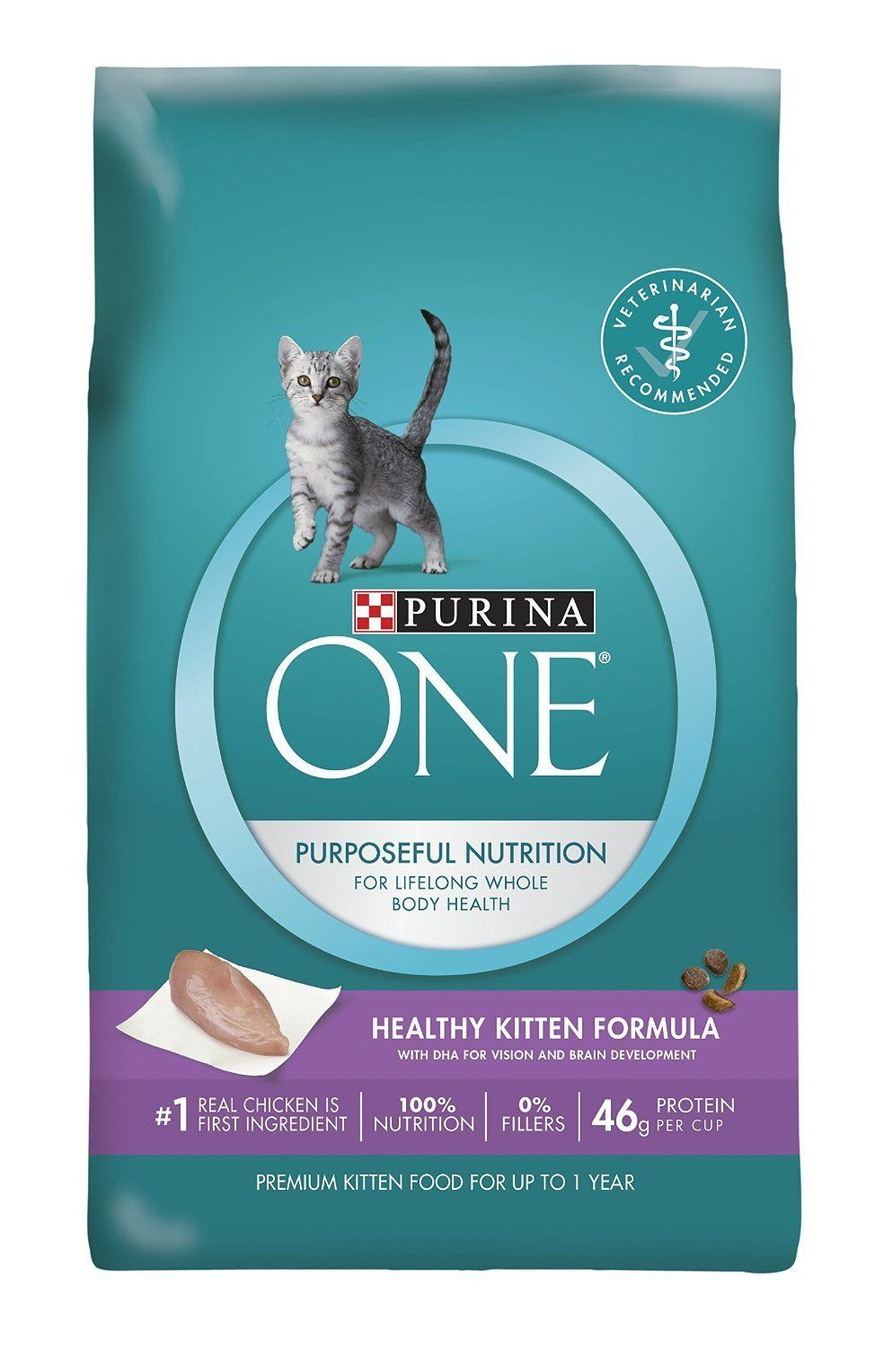 Purina ONE Healthy Kitten Formula Dry Cat Food >>> Check