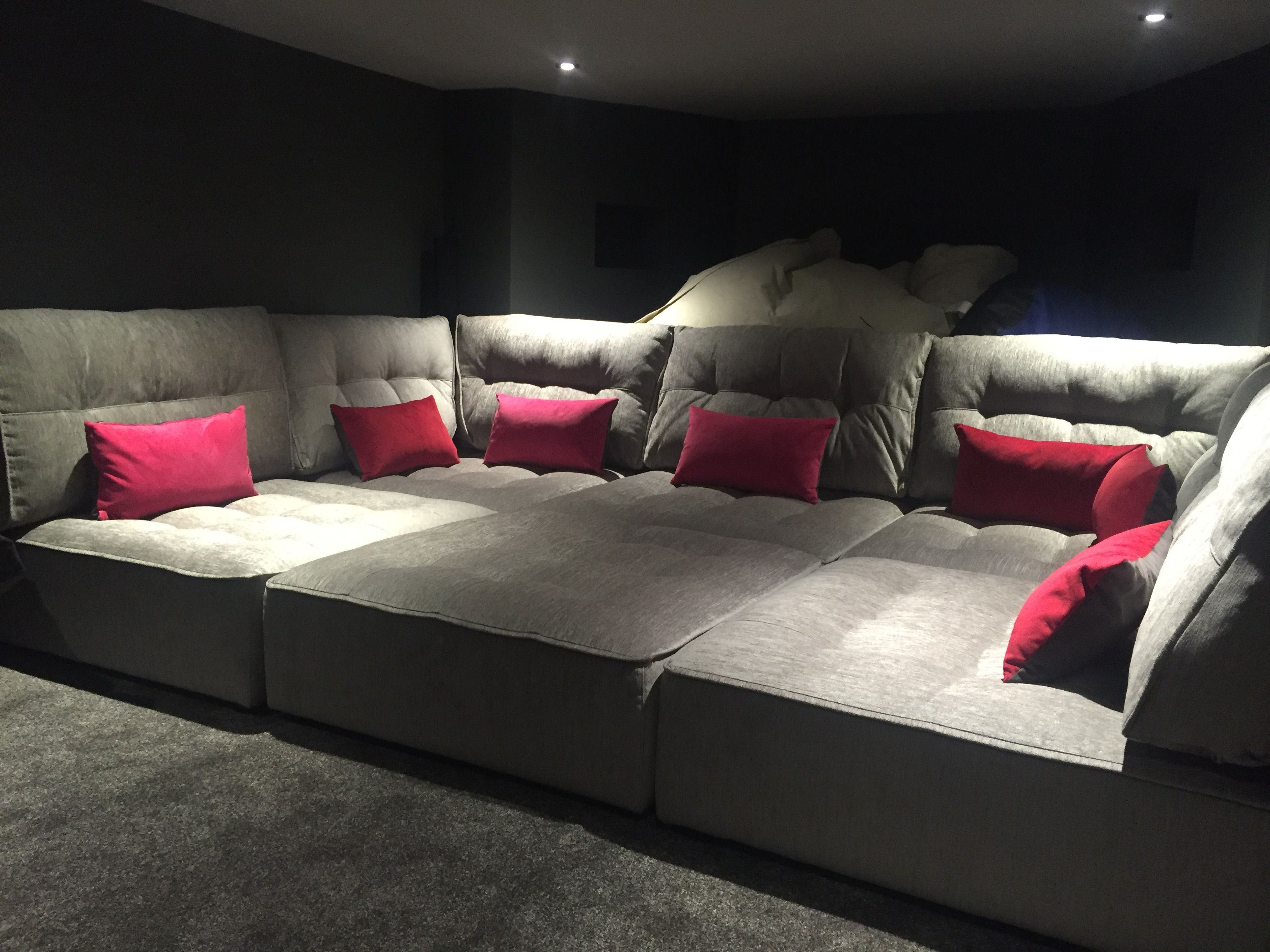 Theatre Room Furniture Tapas In A Basement Media Room  Perfect For The Family To Chill .