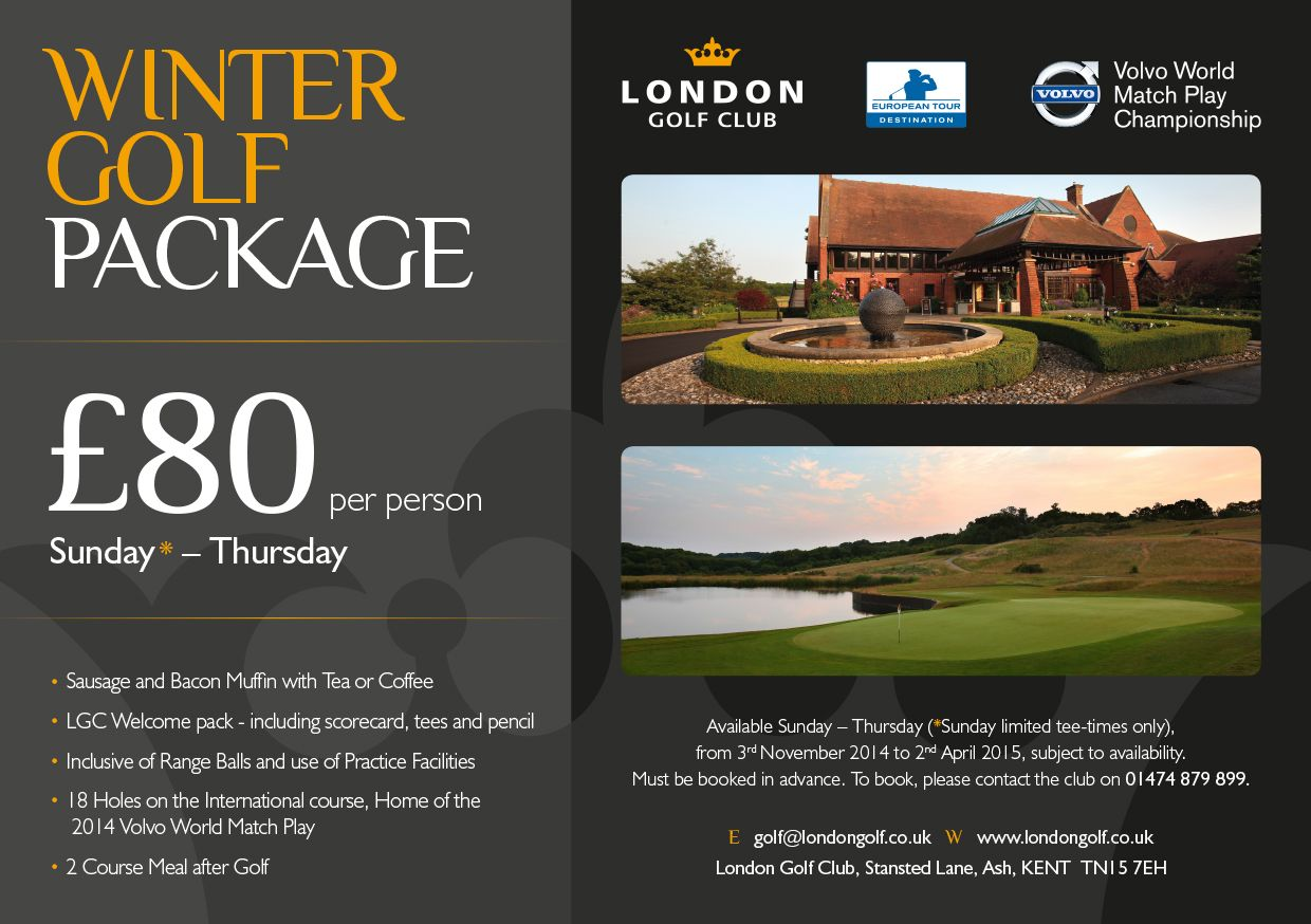 Winter Promo at the home of Volvo World Match Play