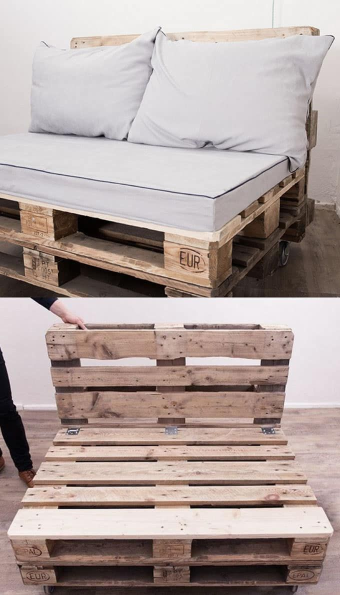 easy DIY pallet sofa coffee table apieceofrainbow 2 12 Easy Pallet Sofas and