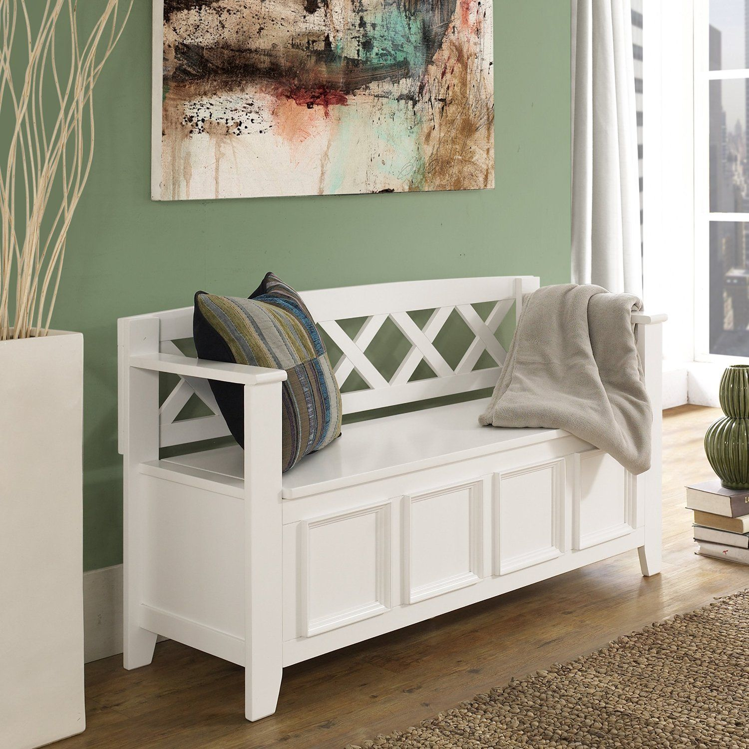 Swell Amazon Com Simpli Home Amherst Entryway Storage Bench Short Links Chair Design For Home Short Linksinfo