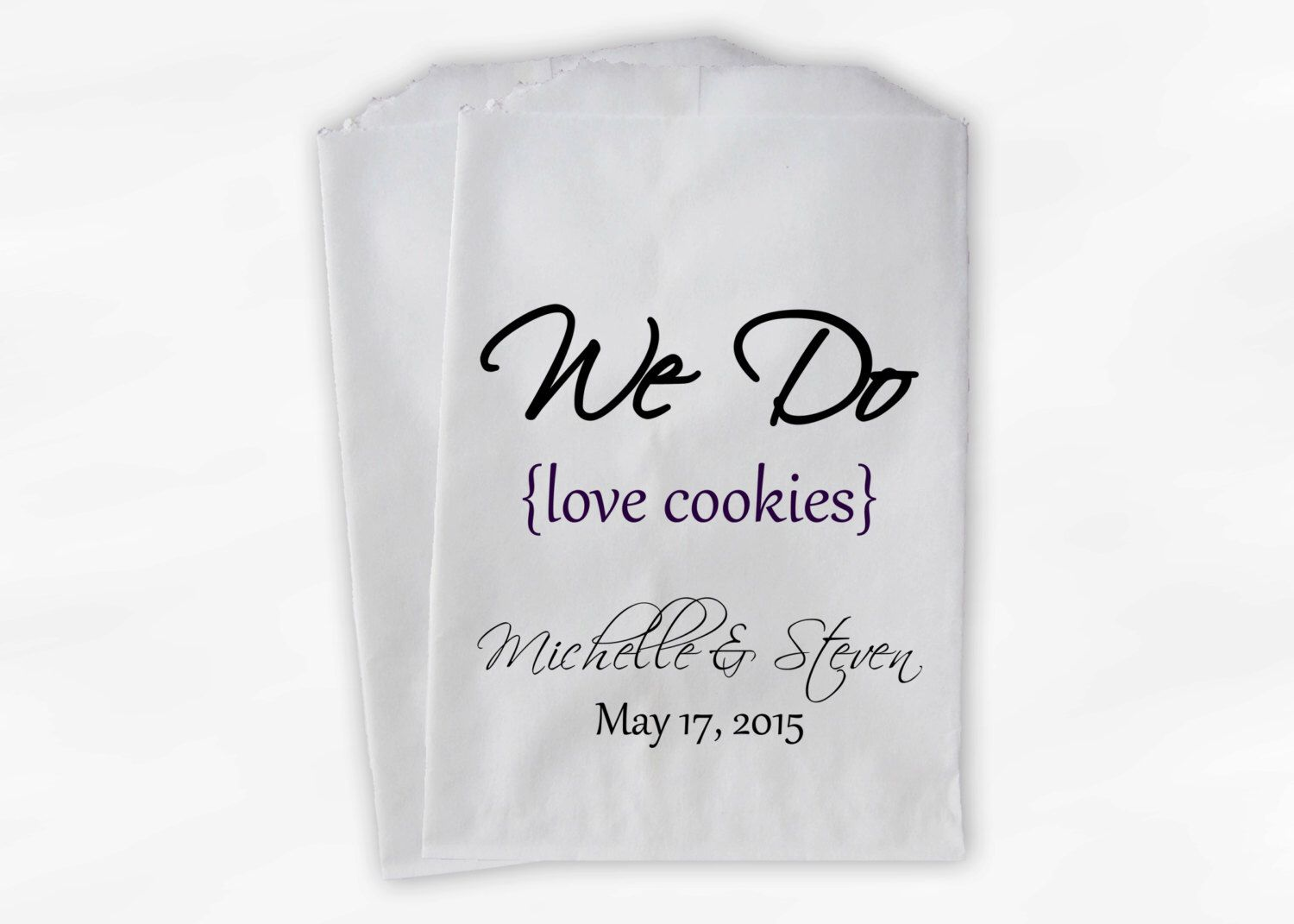 We Do Love Cookies Buffet Bags - Custom Favor Bags for Wedding ...