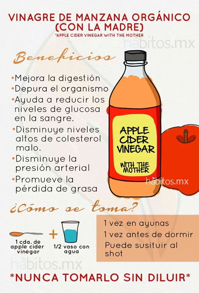 jugos para bajar de peso con vinagre de manzana
